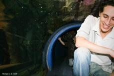 Scott in the penguin tunnel