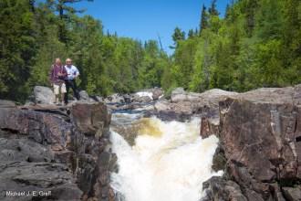 Peter & Big E @ Sand River (Lake Superior Provincial Park)