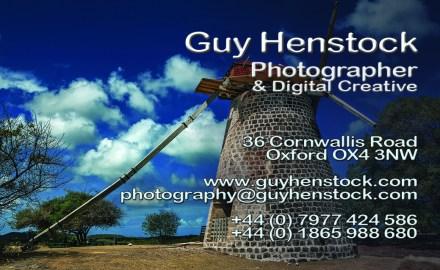 Guy Henstock Photographer Business Card