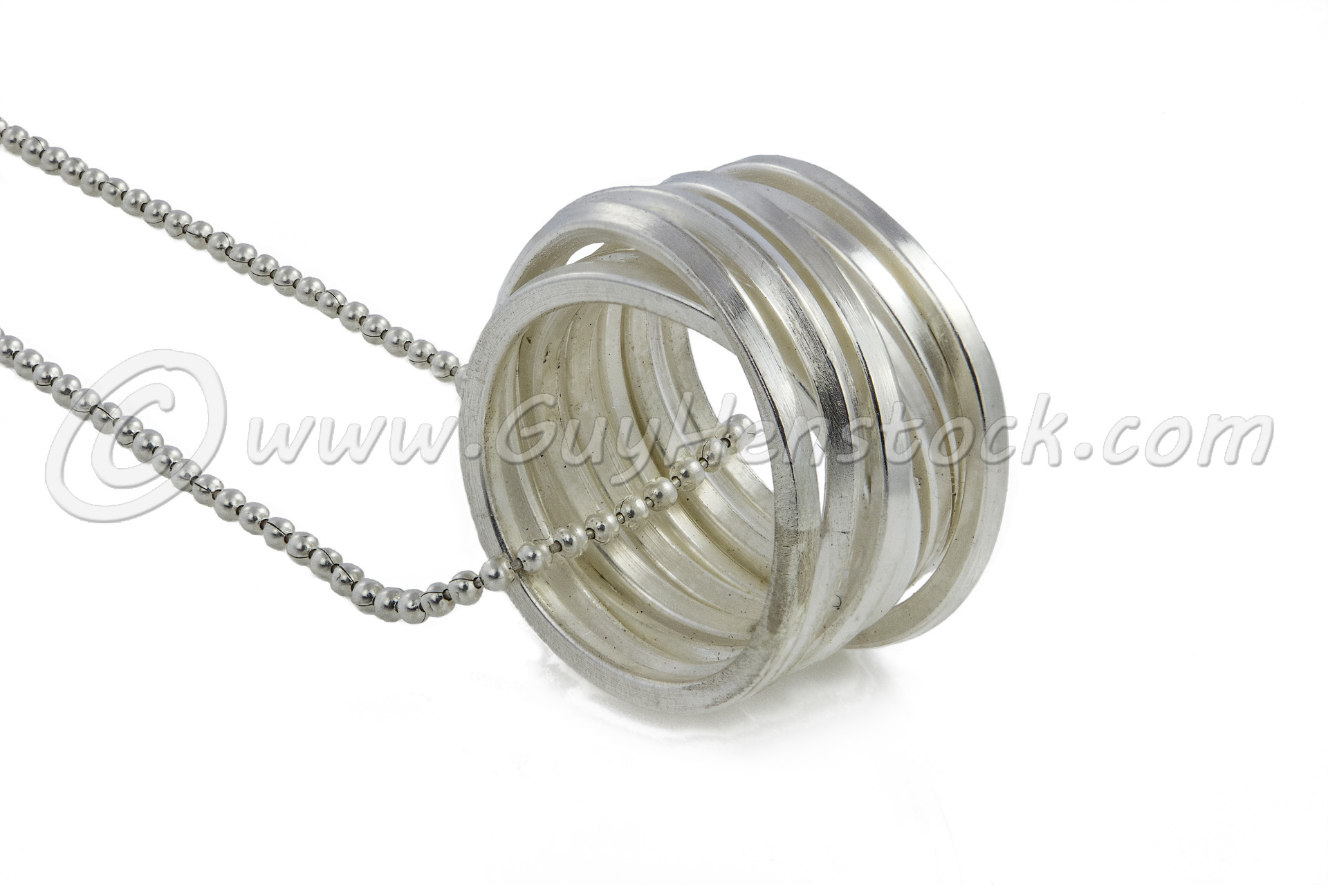 Ring on chain Product photography