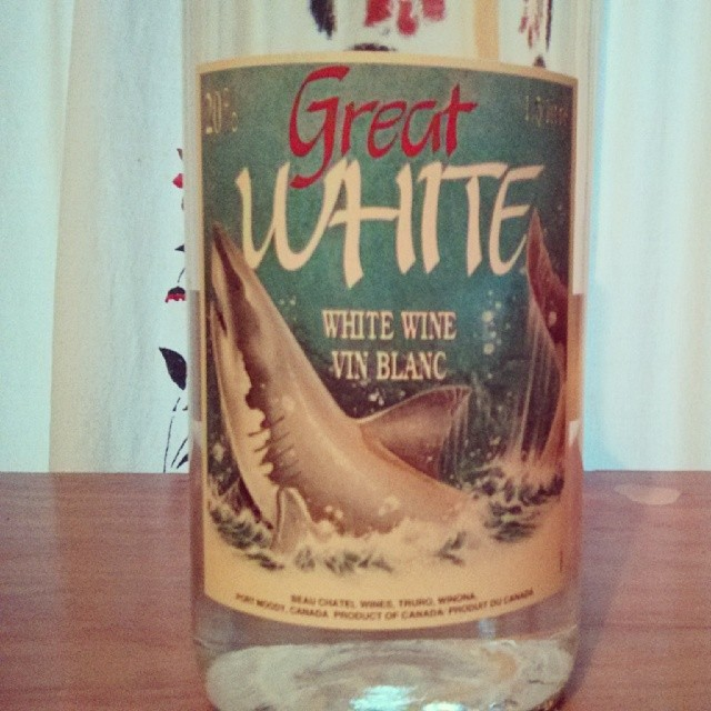 a photo of a bottle of great white white wine