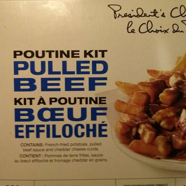 photo of president's choice pulled pork poutine kit box