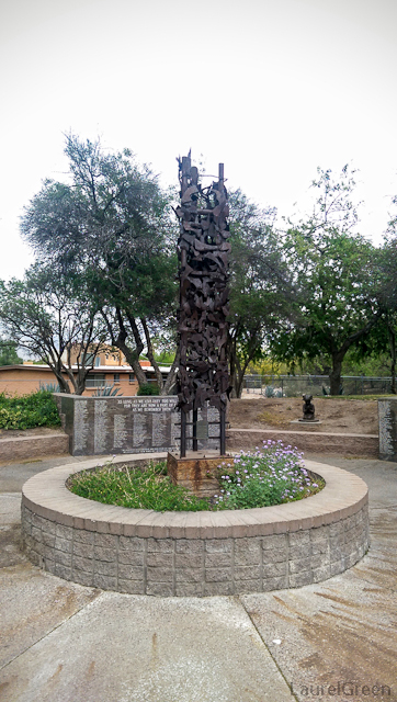 bronze memorial monument in the tucson children's memorial park