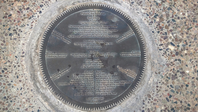 instructional plaque for the tucson sun circle