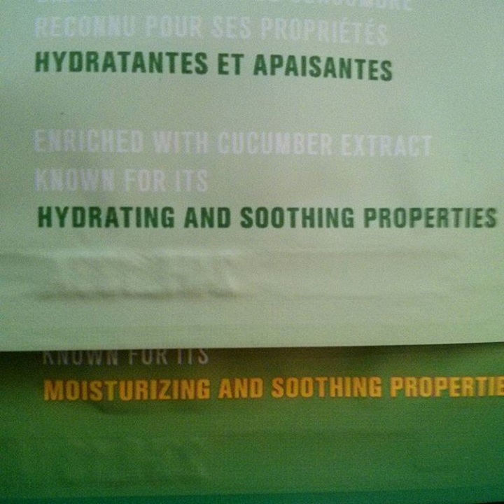 "a closeup of the text from two face sheet masks. one read ""hydrating and soothing"" and the other reads ""moisturizing and soothing"""