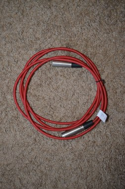 9' XLR female to XLR male cable