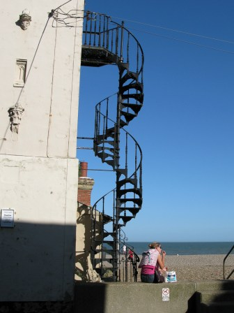 This spiral staircase is a key landmark.