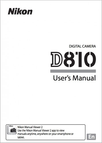 Nikon D810 User's Manual Now Available