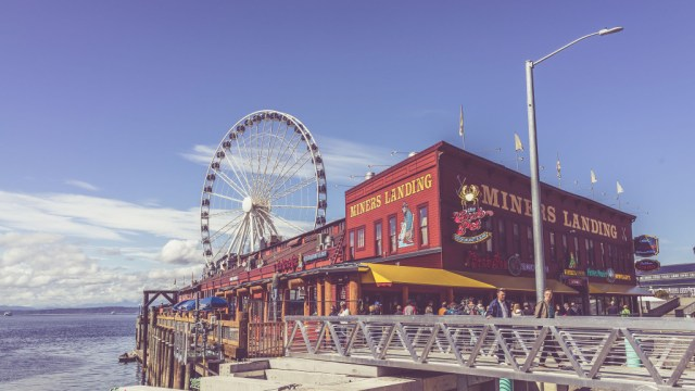 The Waterfront at Downtown Seattle - © Ofer Rozenman