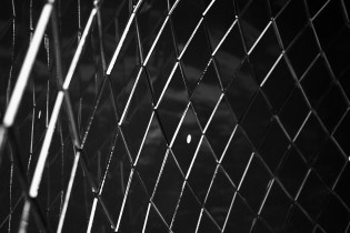 Black and white abstract images of a public art installation in downtown Seattle