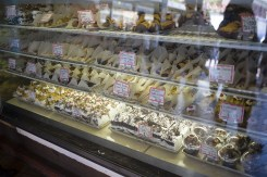 Pastries and cakes for sale at a bakery in Pike Place Market in Seattle