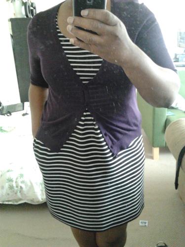 I tried on some wardrobe dress options.