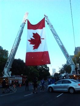 Saw a giant Canadian Flag raised