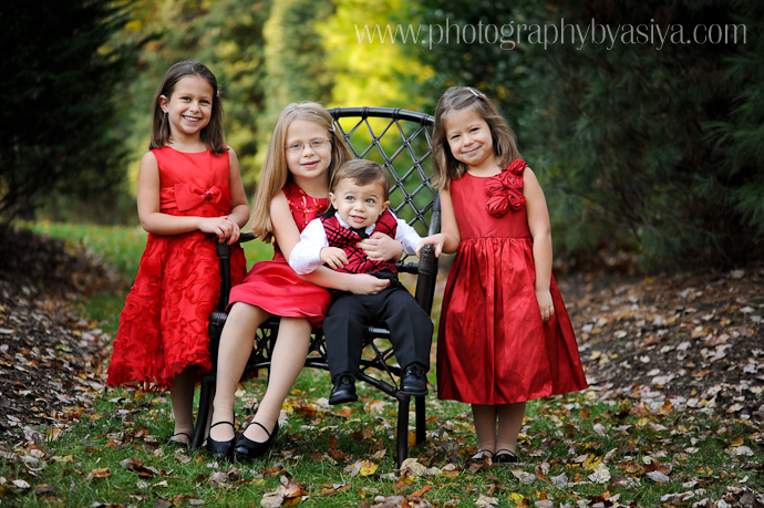 Childrens Christmas Portraiture New Jersey Family