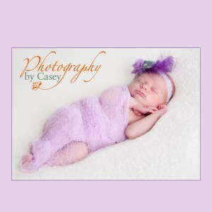 Newborn swaddled in gauze