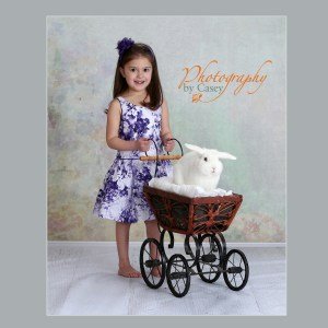 photography of children and bunnies