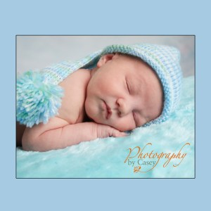 Sleeping Baby with Stocking Hat