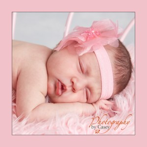 Newborn Baby Sleeping on bench
