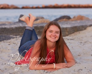 High School Senior Photography at the beach South shore MA