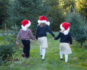 Children's Photos at Christmas Tree Farm