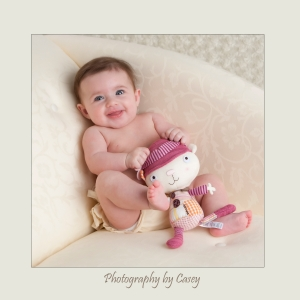 Baby and doll photography