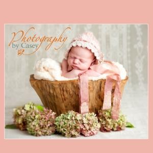 Infant in vintage hat