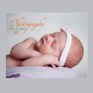 Sleeping newborn baby photographer