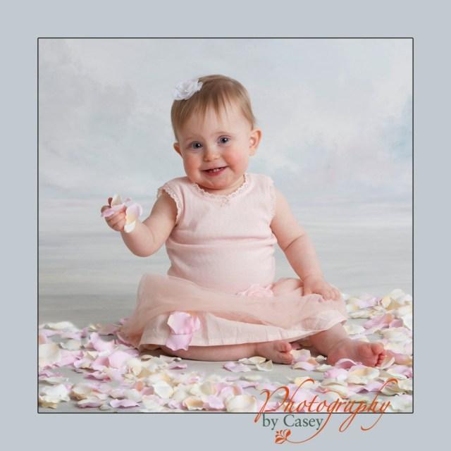 portrait of baby in tutu