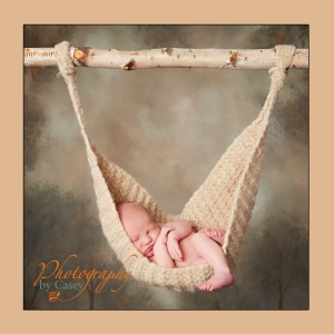 Newborn Sleeping in Hammock