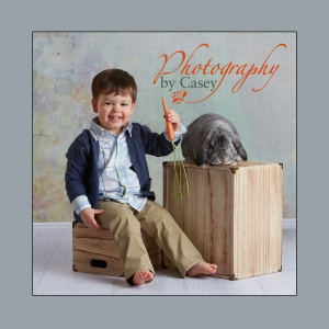 Easter bunny photography with live bunnies