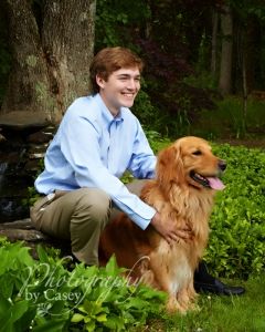 High School Senior Photography with Pets