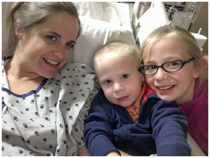 Selfie at Elsie's birth