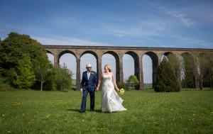 Karen and Ian at Penistone Viaduct, near Sheffield.