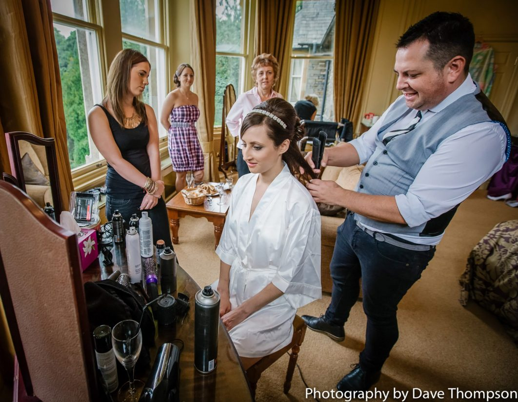 Hairdresser with the bride