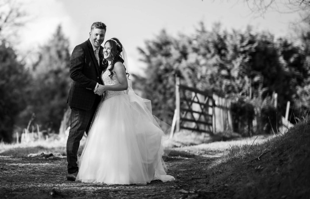 Hollin Hall Hotel Wedding Photographer - A portrait of the bride and groom
