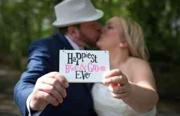 Happiest bride and groom ever