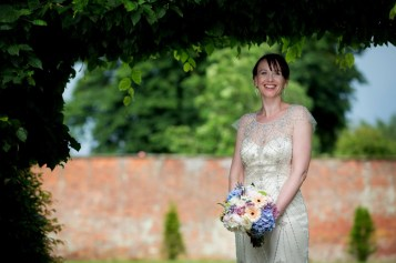 Bridal portrait in the Abbey Gardens