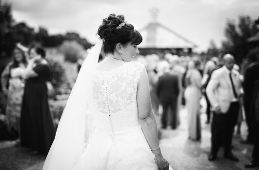 Relaxed Bride black and white