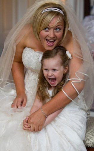 A Bride and her bridesmaid