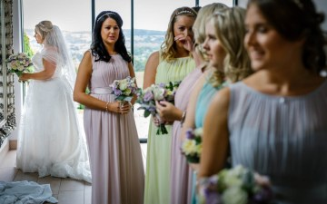 Final bridal prep
