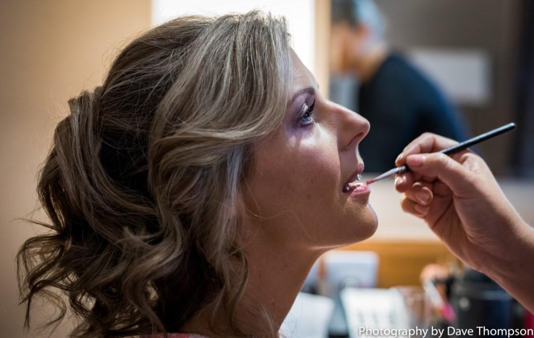 Bride's lipstick