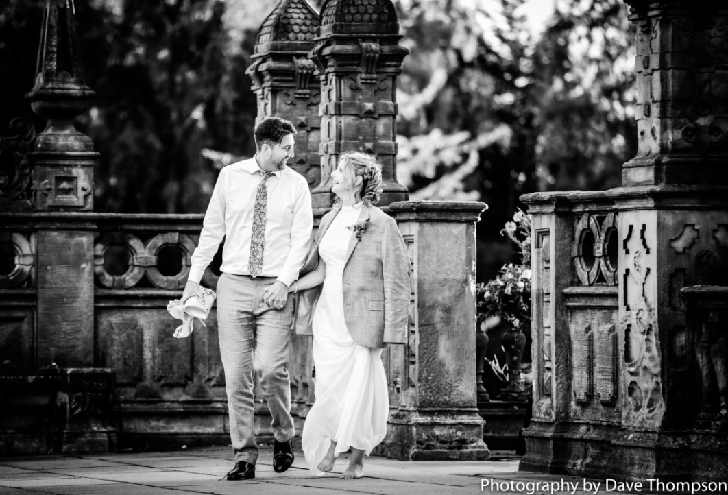 Bride and Groom back at Crewe Hall