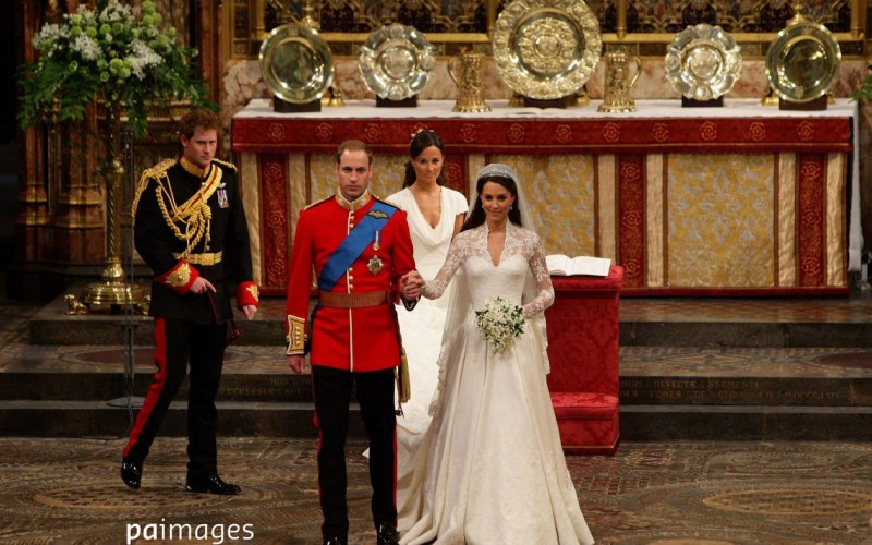 Prince William and Kate Middleton after their wedding