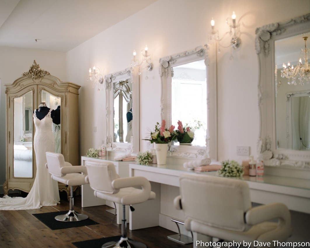 The Bridal Prep area at Alcumlow Wedding Barn
