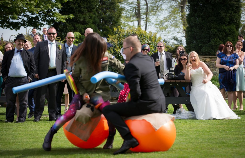 Garden Games at Cubley Hall Wedding photography by Dave Thompson