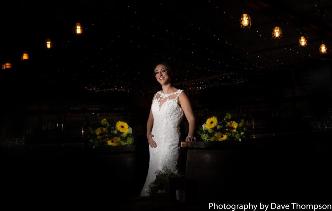 Bridal portrait inside the barn
