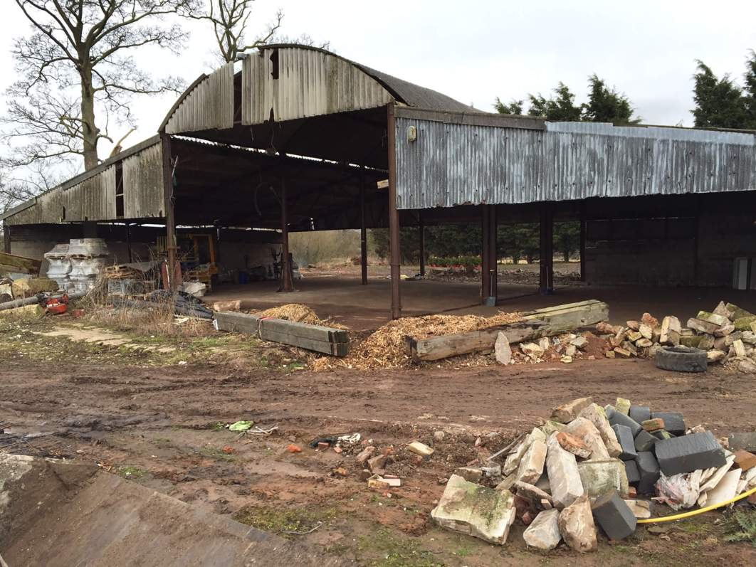 Alcumlow Wedding barn before it was renovated