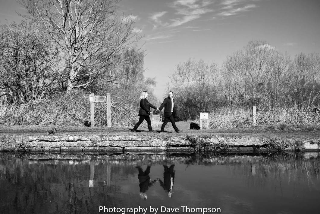 Cheshire engagement shoot along side the canal
