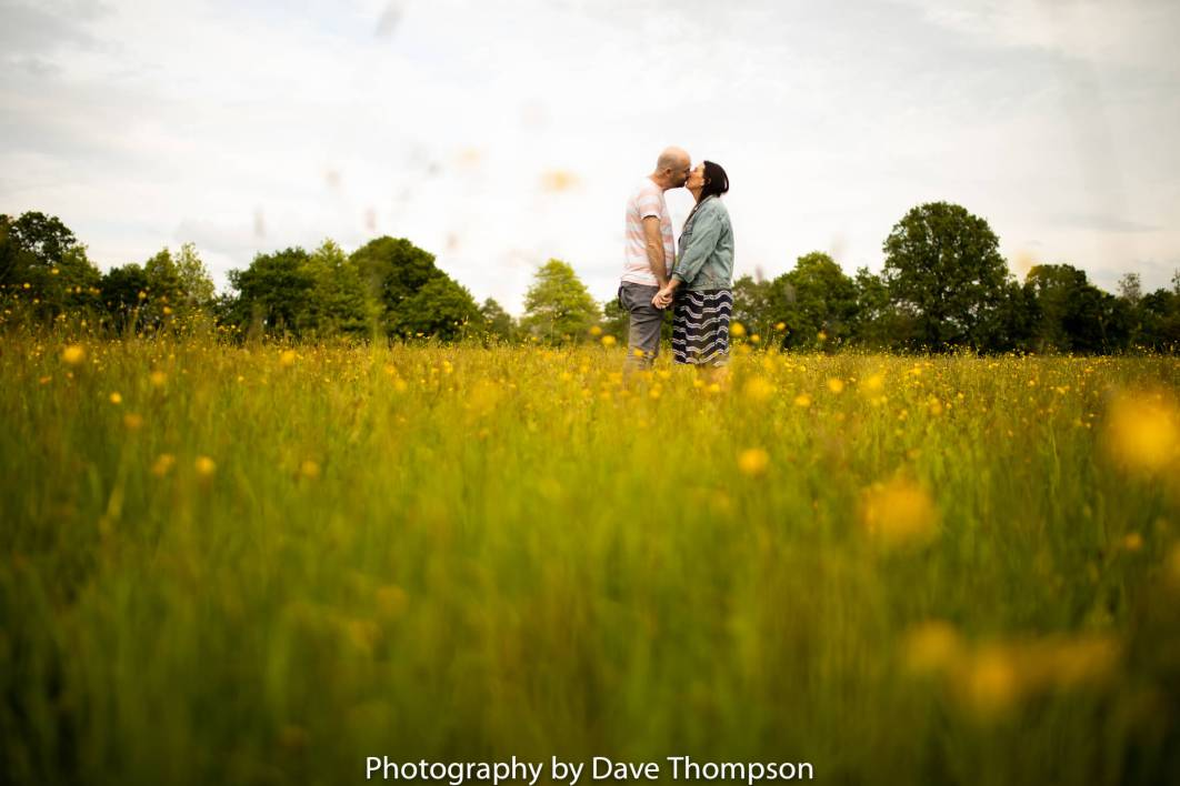 Spring flowers during a Pre wedding shoot at Bruntwood Park in Stockport