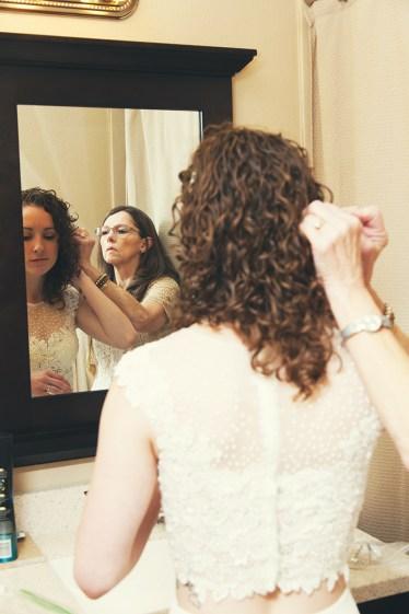 Last minute bridal preparation